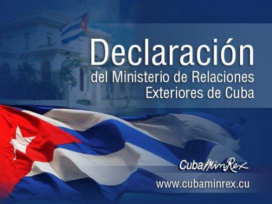 Statement by the Ministry of Foreign Affairs of Cuba