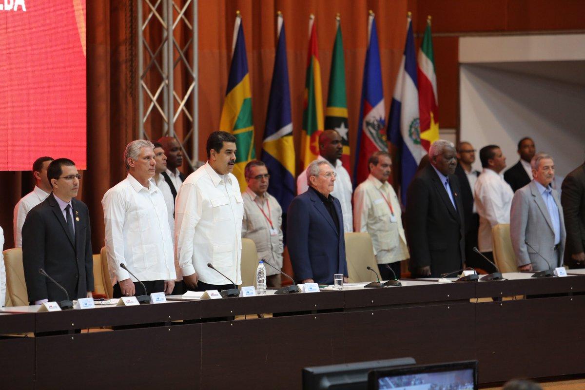 Encabezan Raúl Castro y Nicolás Maduro acto por aniversario 13 de ALBA-TCP
