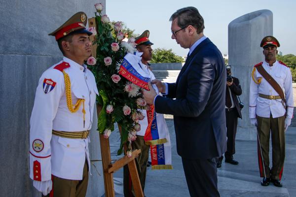 Presidente serbio rindió honores al Héroe Nacional de Cuba