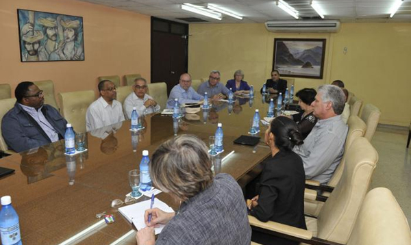 Cuba´s First VP meets with US religious leaders