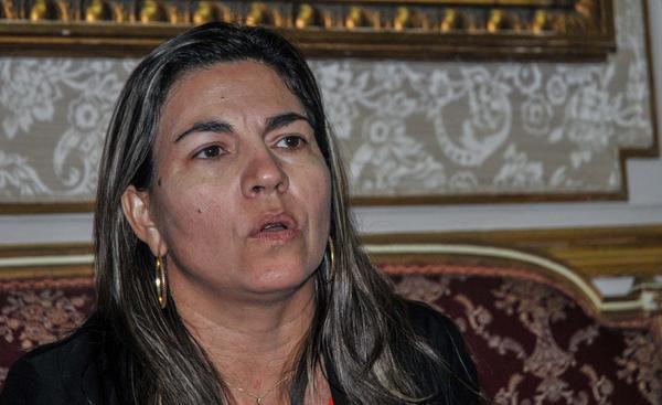 Kenia Serrano, presidenta del Instituto Cubano de Amistad con los Pueblos (ICAP), en conferencia de prensa por el aniversario 56 del ICAP, en La Habana, el 30 de diciembre de 2016. ACN FOTO/Ariel Cecilio LEMUS ALVAREZ DE LA CAMPA