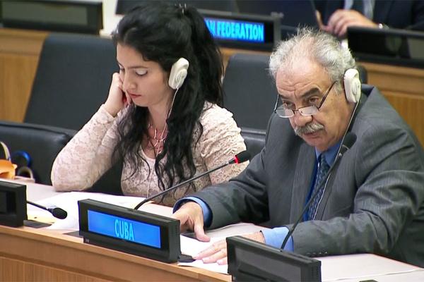 Reitera Cuba en ONU preocupación por situación en el Medio Oriente