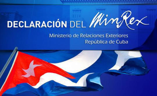 Declaración del Ministerio de Relaciones Exteriores de Cuba sobre fracaso de provocación anticubana