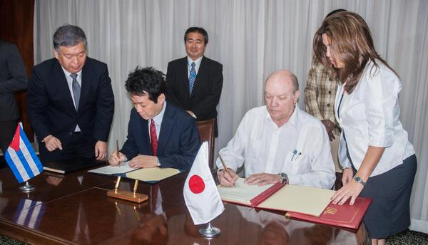 Oficializa Japón donativos a Cuba para apoyar desarrollo económico