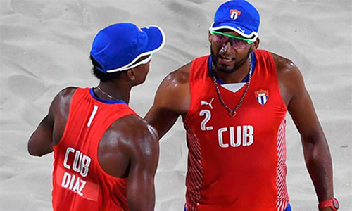 Cuban beach volleyball debut today in Brazil