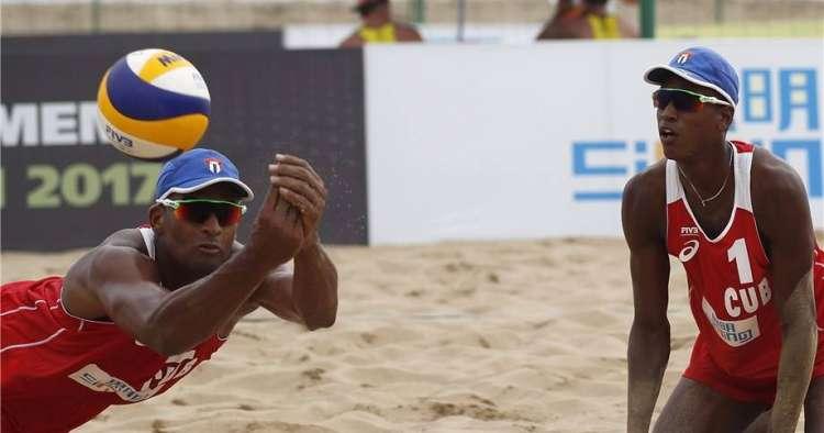Dupla cubana gana en parada china del de Voleibol de playa