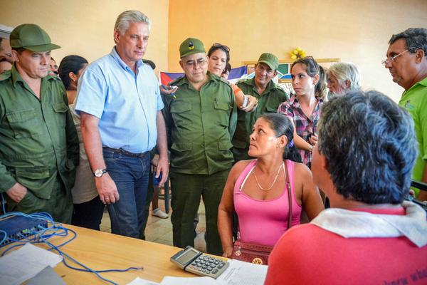 Miguel Diaz-Canel Oversees Recovery Work in Gibara