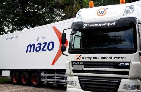 Camión perteneciente al Grupo Mazo, especializado en transporte frigorífico, expuesto en el recinto ferial EXPOCUBA, sede de la XXXV Feria Internacional de La Habana, FIHAV 2017, el 27 de octubre de 2017. ACN FOTO/Omara GARCÍA MEDEROS