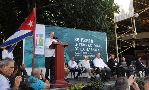 """Malmierca inaugura Fihav-2017: """"Cuba sigue siendo un destino atractivo para la inversión extranjera"""""""