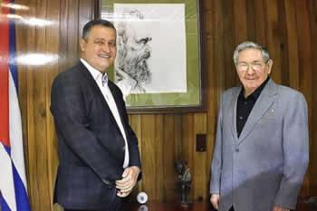 Recibió Raúl Castro a Gobernador del Estado brasileño de Bahía, Rui Costa dos Santos