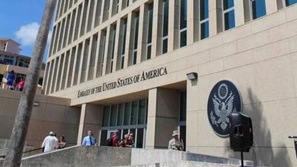 Embajada de EE.UU en la Habana limitará los servicios consulares