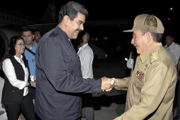 Raúl a accueilli Maduro