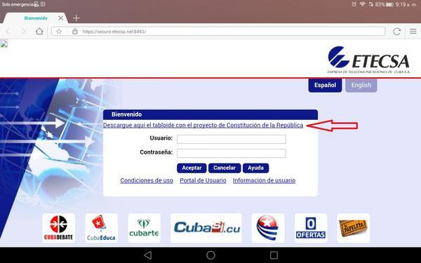 Descarga gratuita del Proyecto de Constitución en zonas wifi