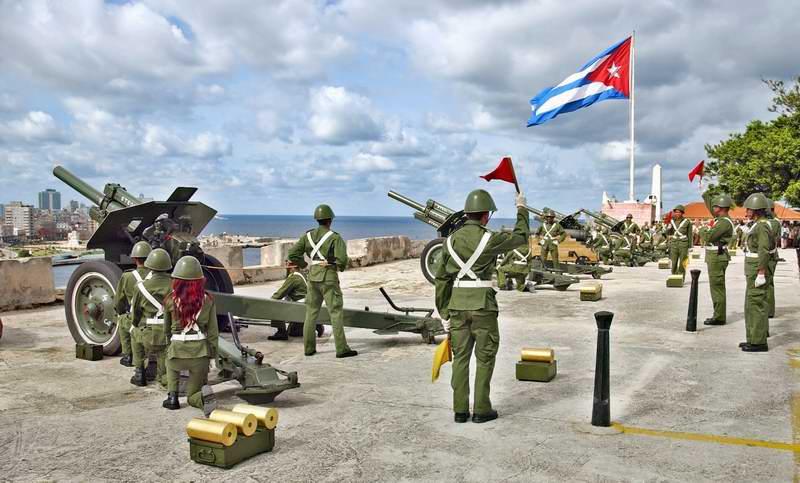 Lanzarán hoy en La Habana salvas de artillería