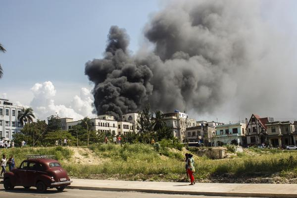 Sin víctimas fatales incendio en Oncológico de La Habana