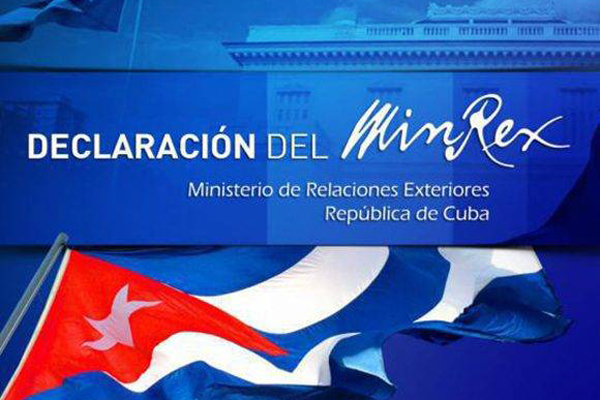 Statement by the Cuban Ministry of Foreign Affairs