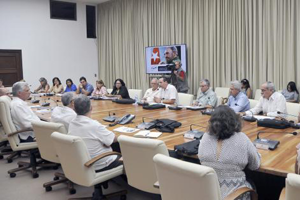 Cuban president Diaz-Canel reviews public health