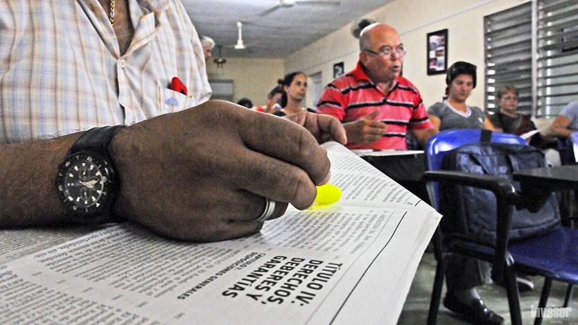 Draft Constitution Debated among Educators in Ciego de Avila