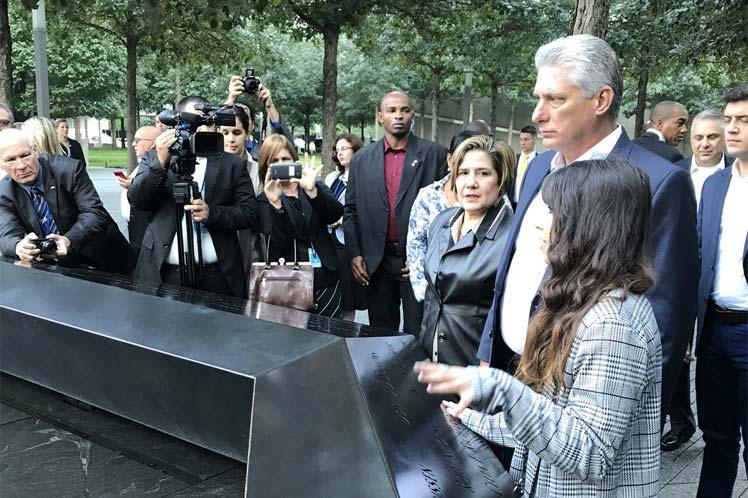 Díaz-Canel honra a víctimas de ataque terrorista en Nueva York