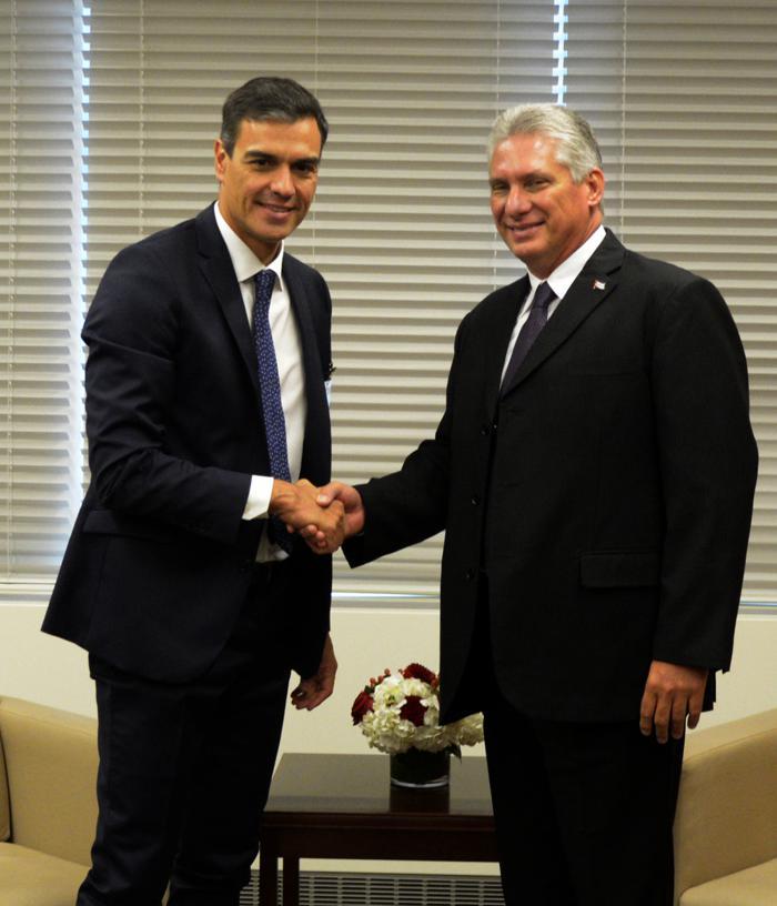 Presidente de Cuba se reúne con mandatarios de España, Argentina y Sudáfrica