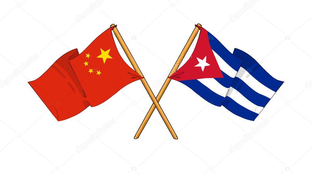 Resultado de imagen para banderas, cuba China