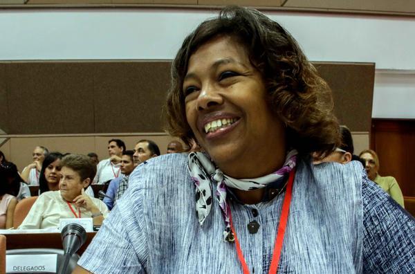 Participante en la inauguración del X Congreso de la Unión de Periodistas de Cuba (UPEC) , que tiene por lema La Verdad Necesita de Nosotros, en el Palacio de Convenciones de La Habana, el 13 de julio de 2018. ACN FOTO/Abel PADRÓN PADILLA