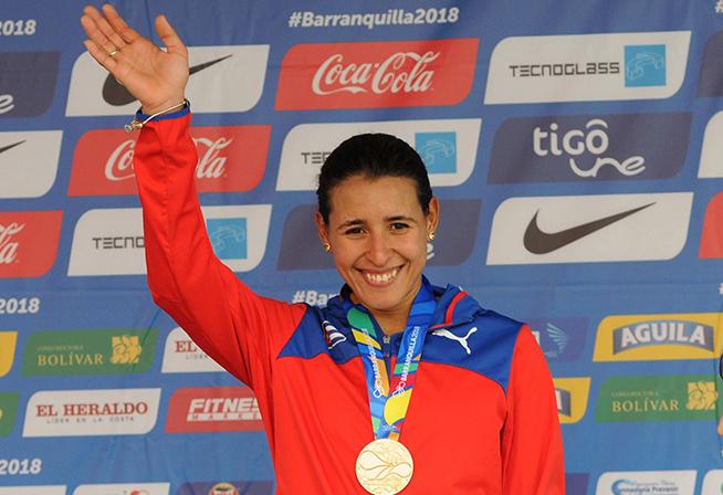Primera medalla de oro de Cuba con la ciclista Arlenis Sierra