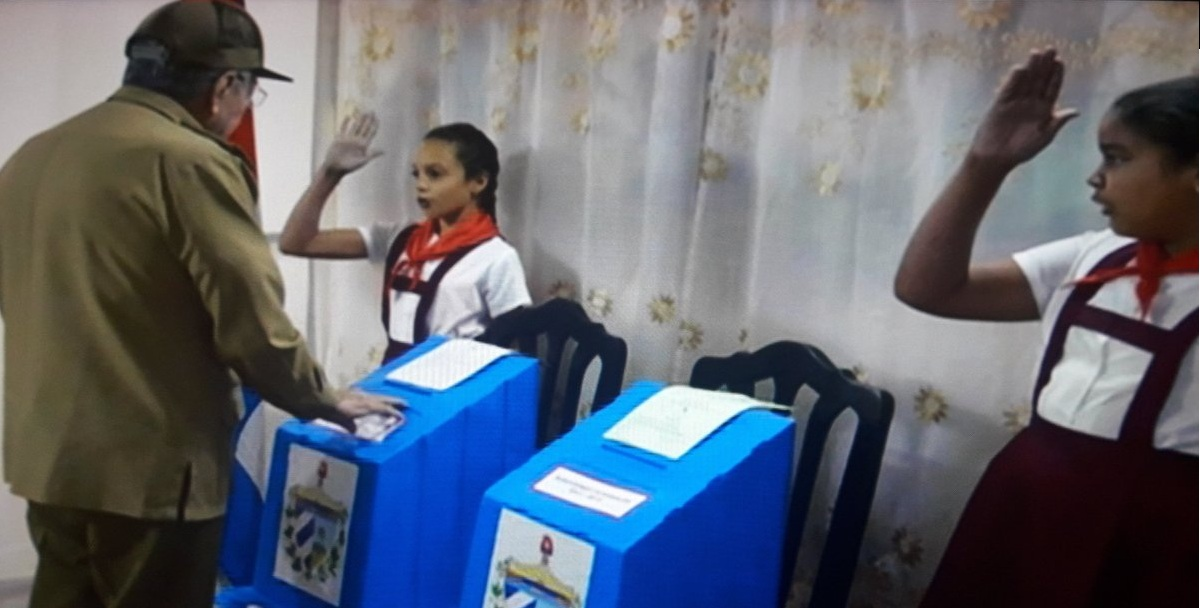 Cuban President Raul Castro Voted in General Elections