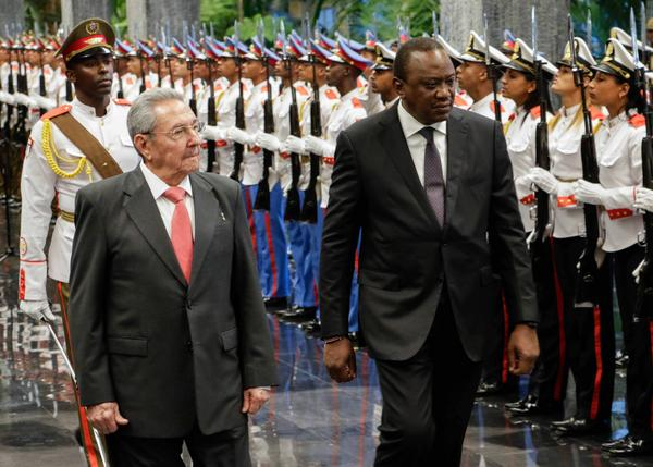 Recibió Raúl Castro en La Habana al Presidente de Kenya