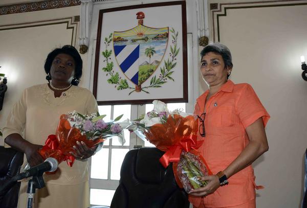 Beatriz Johnson Urrutia, fue ratificada como Presidenta en la Asamblea Provincial del Poder Popular, constituida en el Salón de los Espejos del Palacio Provincial de Gobierno de Santiago de Cuba, el 25 de marzo de 2018. ACN FOTO/Miguel RUBIERA JUSTIZ