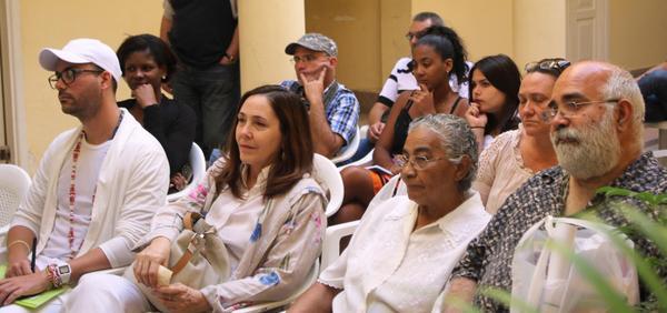 Asistentes a la conferencia de prensa sobre las actividades que se realizarán para celebrar el aniversario 30 del Centro Nacional de Educación Sexual (Cenesex), en La Habana, el 28 de marzo de 2018. ACN FOTO/Ulises PADRÓN SUÁREZ/Cenesex