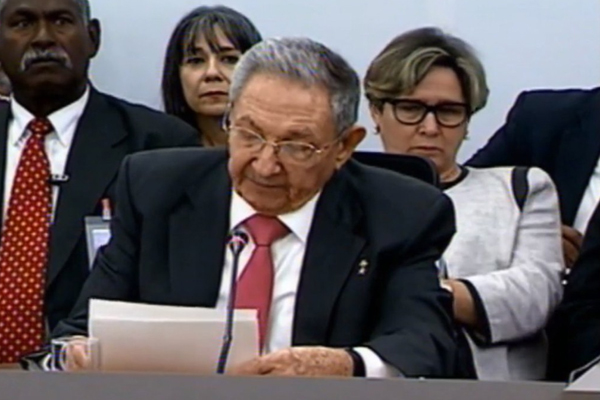 Discurso del presidente cubano Raúl Castro en la XV Cumbre del ALBA-TCP