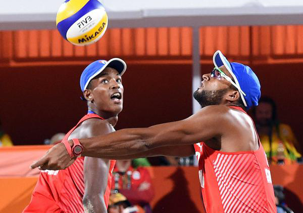 Cuban volleyball beach duo loses in Luzern stop