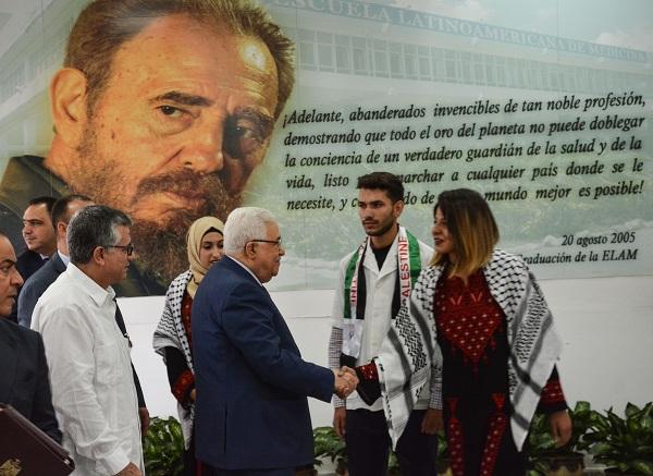 Presidente palestino visitó Escuela Latinoamericana de Medicina