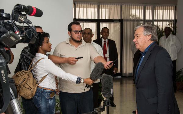 UN Secretary General thanks Cuba for its Hospitality