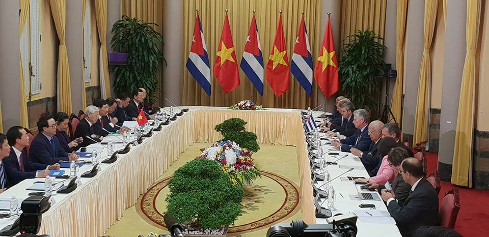 Cuba and Vietnam for strengthening their cooperation relations