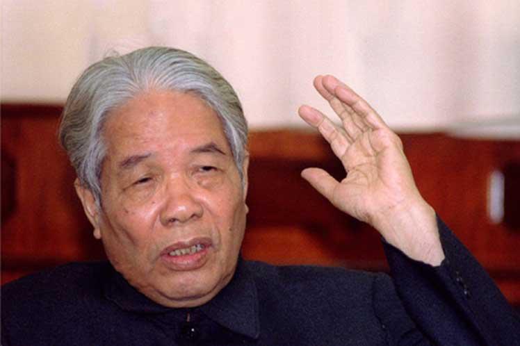 Máximos dirigentes cubanos expresan pesar a Vietnam por muerte de Do Muoi