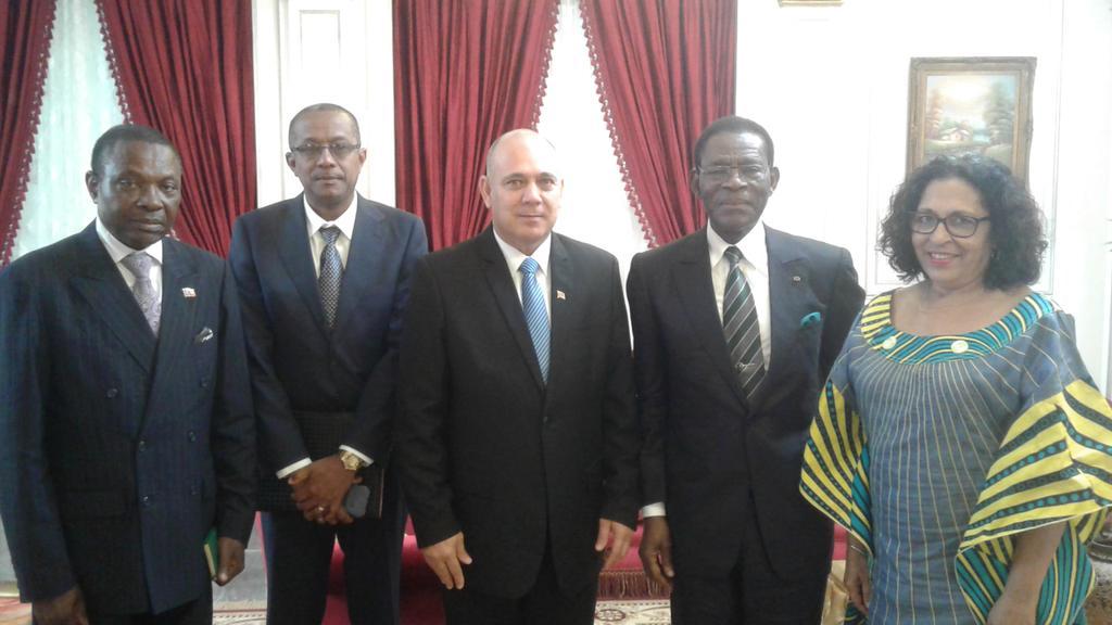 Mandatario de Guinea Ecuatorial recibió a vicepresidente cubano Roberto Morales Ojeda