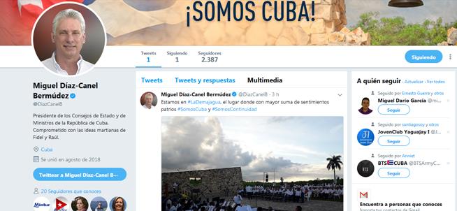 Más de cinco mil seguidores tiene ya cuenta en Twitter de Díaz-Canel