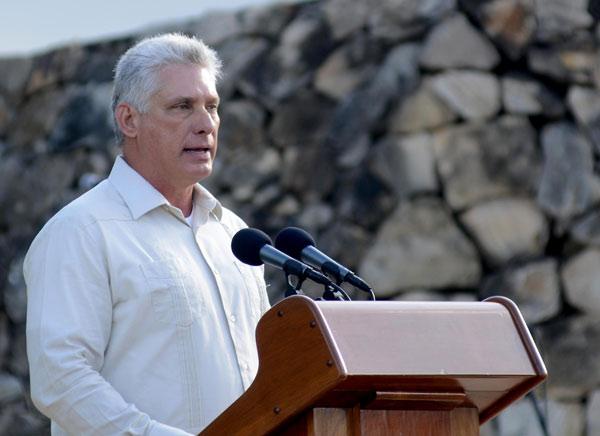 Intervención de Díaz-Canel en acto por aniversario 150 de las luchas independentistas en Cuba