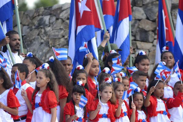 Acto por el aniversario 150 del alzamiento en La Demajagua