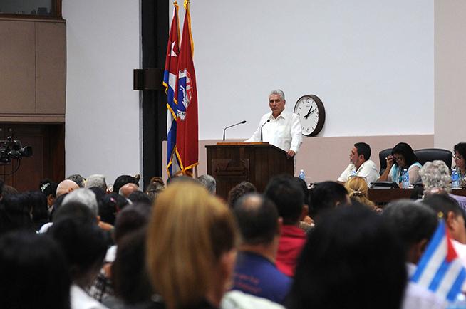 Intervencion de Díaz-Canel en la I Conferencia Nacional del Sindicato de los Trabajadores de la Cultura.