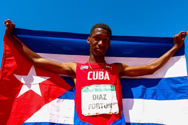 Cubano Jordan Díaz electo mejor atleta juvenil de Centroamérica y el Caribe