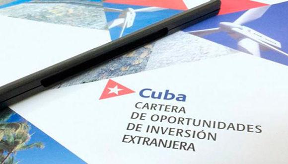 Presentarán nueva cartera de oportunidades de inversión en Cuba