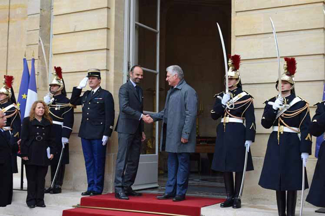 French Premier receives Cuban president Diaz-Canel