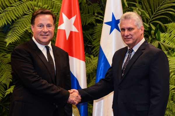 Diaz-Canel Receives President of Panama