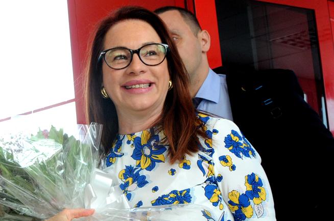María Fernanda Espinosa, Presidenta de la Asamblea General de Naciones Unidas, a su llegada a La Habana, Cuba, por la terminal 3 del aeropuerto internacional José Martí, el 3 de abril de 2018, con motivo de una visita oficial que realiza a la mayor de las Antillas.