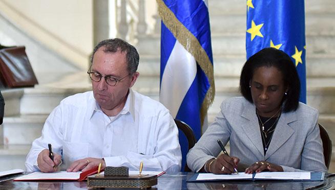 Cuba and the European Union sign memorandum of intent