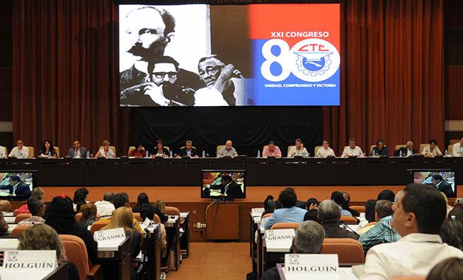 Concluye hoy XXI Congreso de la Central de Trabajadores de Cuba
