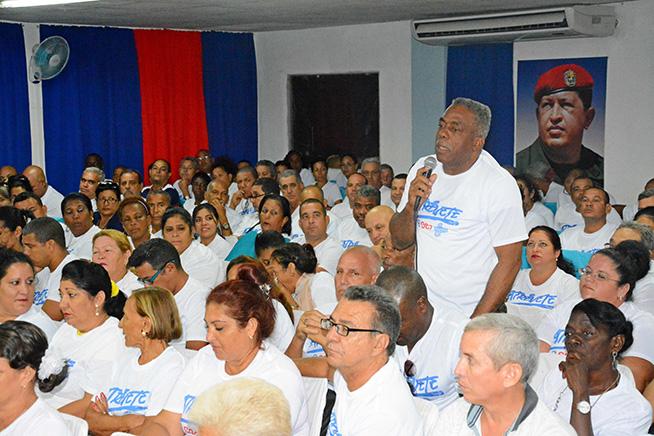 """Delegados de circunscripción en Isla de la Juventud respaldan movimiento popular """"Atrévete a ser más"""" de cara al Desarrollo Local. Cuba, 3 de agosto de 2019."""